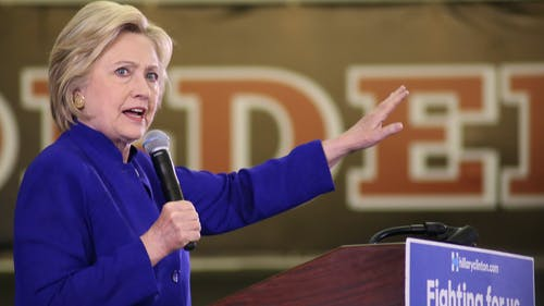 June 2016   Democratic presidential nominee Hillary Clinton is one of several candidates running for the highest office in America. Though initially challenged by Senator Bernie Sanders (I.-Vt.), she has earned the vote of several progressives at Rutgers. – Photo by Photo by Dimitri Rodriguez   The Daily Targum