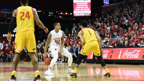Senior guard Jacob Young led Rutgers' offense with 19 points in the win against Northwestern. – Photo by The Daily Targum