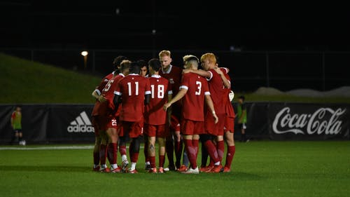 The Rutgers men's soccer team held No. 8 Maryland scoreless for 110 minutes, drawing 0-0 in College Park, Maryland.  – Photo by Samantha Cheng