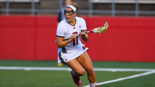 Senior attacker Taralyn Naslonski recorded 4 goals and three assists in Rutgers' win over Drexel. – Photo by Scarletknights.com