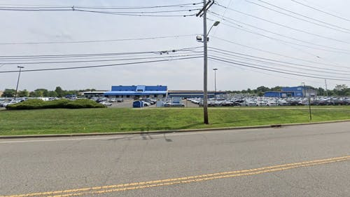 The testing site will be located at the New Jersey Motor Vehicle Commission Kilmer Inspection Station in Edison, New Jersey. It will be open only to residents of Middlesex County with valid appointments. – Photo by Google Maps