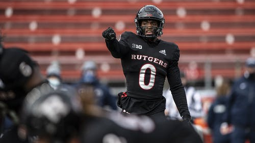 Junior safety Christian Izien looks to lead the secondary as the Rutgers football team inches closer to the start of the 2021 season. – Photo by Ben Solomon / Scarletknights.com