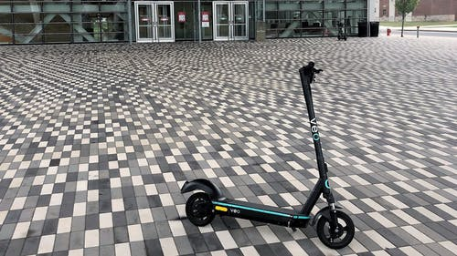 Scooters on the Rutgers—New Brunswick campus, intended to help the daily commute, can sometimes pose safety concerns. – Photo by RU Business School / Twitter