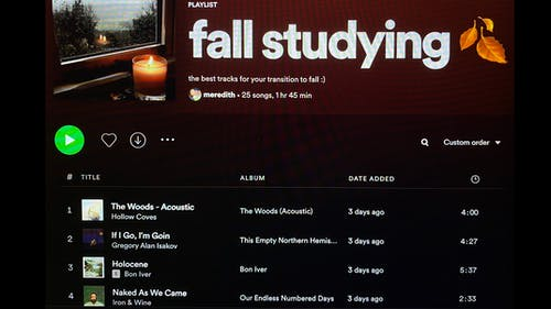 Having a great study playlist can help set the tone for your homework sessions and help you get back on your grind. – Photo by Nadia Rahim