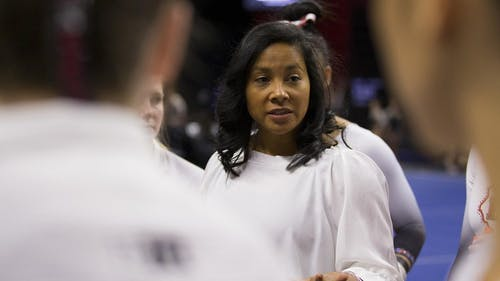 Head gymnastics coach Umme Salim-Beasley has 12 true freshmen on her roster. – Photo by Rutgers.edu