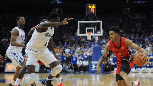Head coach Steve Pikiell confirmed sophomore guard Corey Sanders will expected to be available for Rutgers' clash with Penn State at the Rutgers Athletic Center on New Year's Day. – Photo by Photo by Dimitri Rodriguez | The Daily Targum