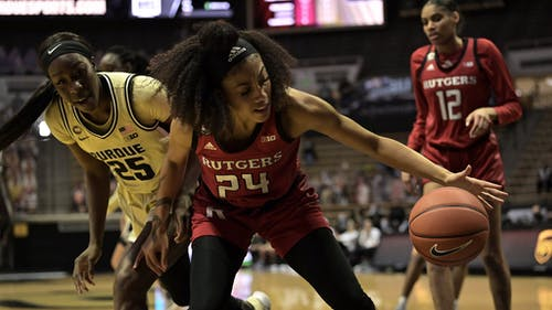 Fifth-year senior guard Arella Guirantes and freshman center Sakima Walker look to defeat Minnesota and help the Rutgers women's basketball team continue its winning streak. – Photo by Rutgers Women's Basketball / Twitter