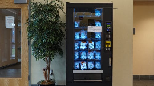 Rutgers offers coronavirus disease (COVID-19) test vending machines for unvaccinated individuals or approved fully vaccinated individuals. – Photo by Matan Dubnikov