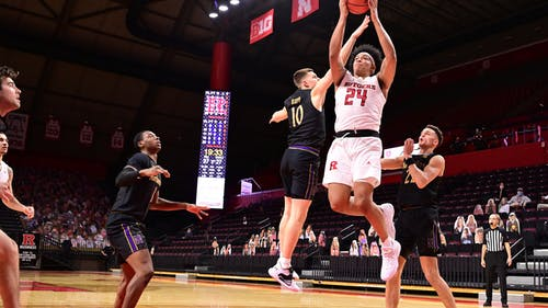 Junior guard Ron Harper Jr. contributed 14 points as the Rutgers men's basketball team defeated Northwestern for the second time this season. – Photo by Rutgers Basketball / Twitter