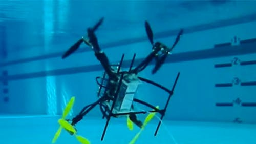 Created by Rutgers professor Francisco Javier Diez, The Naviator is a drone that can travel both underwater and in the air. Diez hatched the idea in 2012. – Photo by Courtesy of Javier Diaz / Rutgers.edu