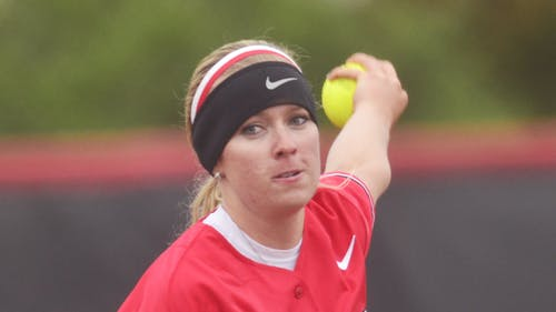 Senior left-hander Alyssa Landrith willed her way through 17 innings of work to lead Rutgers past Purdue in the two games she started. – Photo by Photo by Daily Targum | The Daily Targum