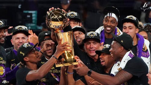 The Lakers won the NBA Finals 4-2, completing the season after a break due to the coronavirus disease (COVID-19) – Photo by Lakers / Twitter
