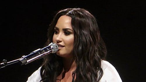 """Demi Lovato is an award-winning artist and actress, known for her Disney channel roles in """"Sonny With a Chance"""" and """"Camp Rock.""""  – Photo by Wikimedia"""