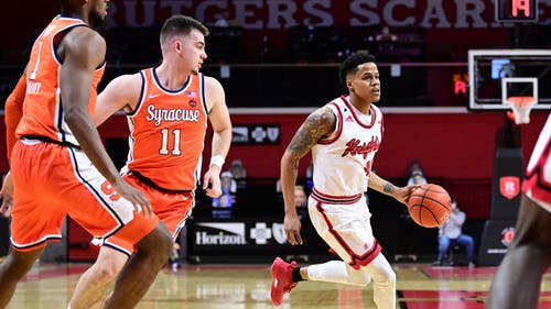 Senior guard Jacob Young tallied 18 points and 10 assists against Syracuse and ended the game by shooting 3 of 4 from the foul line. – Photo by Rutgers Men's Basketball / Twitter