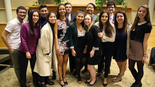 The new editorial board was caucused in on Friday, and will be led by Editor-in-Chief Alexandra DeMatos. The new board plans to build on the successes of Board 148 while working to move the Targum into an increasingly digital age. – Photo by Brayden Donnelly