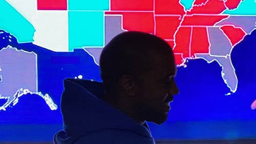 """Kanye West ran for president this election, and he already revealed he may be running again with a tweet captioned """"KANYE 2024.""""  – Photo by Kanye West / Twitter"""