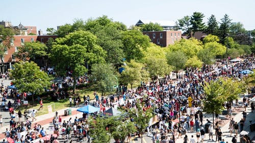 The Rutgers Involvement Fair returned to campus on Tuesday, with 670 student groups and departments participating. – Photo by Rutgers.edu