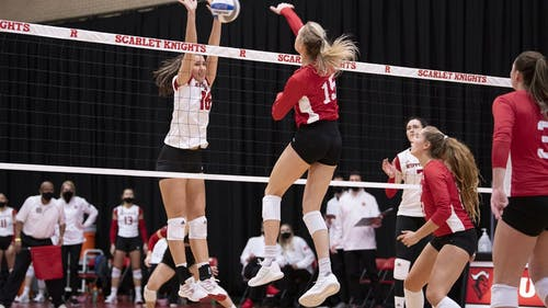 Freshman middle blocker Tina Grkovic and the Rutgers volleyball team will attempt to earn their second win of the season against Iowa, who also come into this match with one win this season.  – Photo by Scarletknights.com