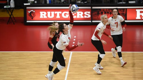The Rutgers volleyball team seeks its third win of the 2021 season when it faces off against rival Penn State.  – Photo by Scarletknights.com