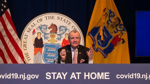 Gov. Phil Murphy (D-N.J.) announced today all schools in New Jersey will remain closed until at least May 15, a decision that was made in collaboration with New Jersey Department of Health Commissioner Judith Persichilli and Department of Education Commissioner Lamont Repollet, among others. – Photo by Rich Hundley / The Trentonian