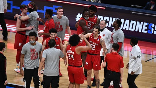 The Rutgers men's basketball team lost to Houston in the second round of the NCAA Tournament, ending a historic 2020-2021 season for the Scarlet Knights. – Photo by Rutgers Men's Basketball / Twitter