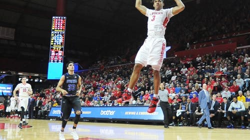 Corey Sanders flushes a two-hand dunk against Seton Hall at the Rutgers Athletic Center on Dec. 5, 2015. The sophomore guard and the Scarlet Knights face the Pirates for the first time since that 29-point loss this Friday at the Prudential Center. The Daily Targum's Brian Fonseca and The Setonian's Gary Phillips sat down for a Q&A to preview the highly-anticipated matchup. – Photo by The Daily Targum