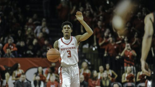 Sophomore guard Corey Sanders will need to replicate the production he had against Nebraska on both ends of the floor in order for Rutgers to earn its first Big Ten road win against No. 25 Maryland Tuesday. – Photo by Jeffrey Gomez