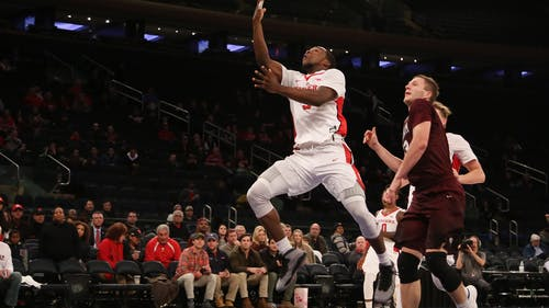 Junior guard Mike Williams had a team-high 16 points, but also shot 3-for-10 from beyond the arc as Rutgers fell to Penn State 60-47 in its first home loss of the season. – Photo by Photo by Dimitri Rodriguez | and Dimitri Rodriguez The Daily Targum