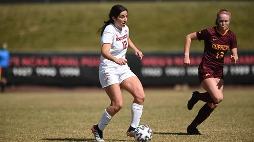 Senior back/midfielder Gabby Provenzano received Big Ten Defensive Player of the Week honors in March. – Photo by Scarletknights.com