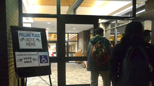 The Busch Student Center was a polling location at Rutgers for yesterday's midterm election.