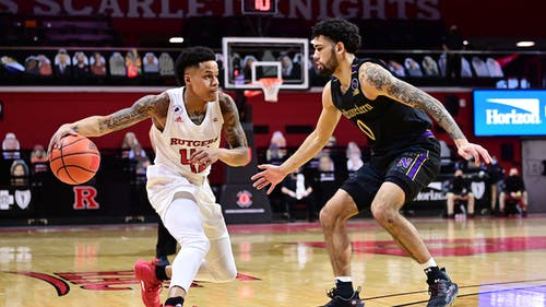A team-leading 16 points from senior guard Jacob Young was not enough as the Rutgers men's basketball team fell to Michigan 71-64. – Photo by Rutgers Basketball / Twitter