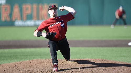Junior left-handed pitcher Harry Rutkowski became the fifth player in program history with 200 strikeouts as the Rutgers baseball team continued their good run of play, sweeping Nebraska during the weekend. – Photo by Scarletknights.com