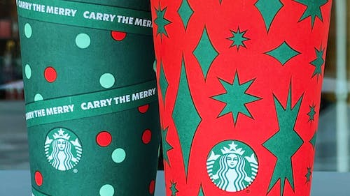 Starbucks' holiday drinks, including fan-favorites such as the Peppermint Mocha and the Eggnog Latte, were officially brought back on Nov. 6.  – Photo by  Hezekiel Poulan