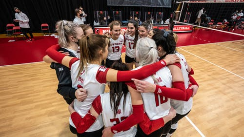 Rutgers women's volleyball is set to face No. 1 Wisconsin this weekend after splitting its last meet with Indiana. – Photo by Rutgers Volleyball / Twitter