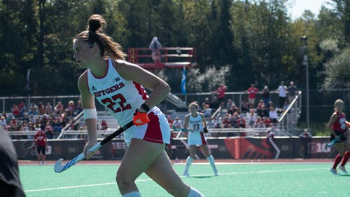 Freshman midfielder Lucy Bannatyne and the Rutgers field hockey team continue their excellent season this weekend, facing Maryland and Columbia.  – Photo by Emma Garibian