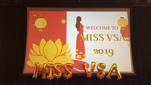 This year's Miss VSA included six contestants from a range of universities in the Northeast region. Each contestant was required to give a video introduction, perform in a talent show, participate in an ao dai walk and answer questions.  – Photo by Photo by Catherine Nguyen | The Daily Targum
