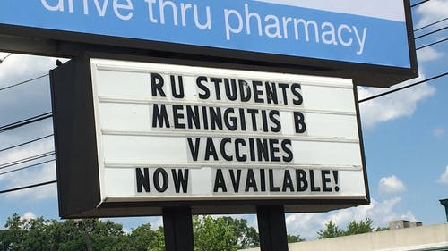 Before returning to school in the fall, all undergraduate students will be required to verify they have received the 3-dose vaccination series of Trumenba®. – Photo by Avalon Zoppo