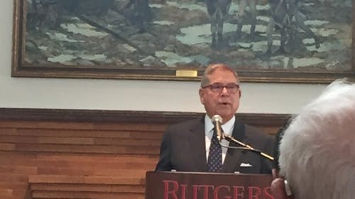 Alberto Ibarguen, the president and CEO of the Knight Foundation, said his foundation's mission was to inform the community. The foundation will also be investing $300 million in a program to increase local reporting. – Photo by Photo by Rutgers.edu | The Daily Targum