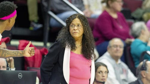 With the additions of Destiny Marshall and Aicha Ndour, head women's basketball coach C. Vivian Stringer's roster includes eight guards and two centers. – Photo by Benjamin Chelnitsky