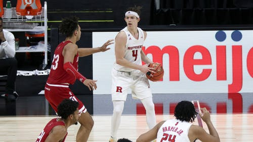 Sophomore guard Paul Mulcahy hit two second half three-pointers to help the Rutgers men's basketball team win their first NCAA Tournament game in over 30 years.  – Photo by Kelly Carmack / Photo Editor