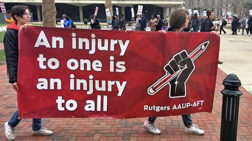 The University has until Nov. 20 to turn over certain financial documents regarding Rutgers Athletics to the Rutgers American Association of University Professors and American Federation of Teachers. – Photo by Rutgers AAUP-AFT / Facebook