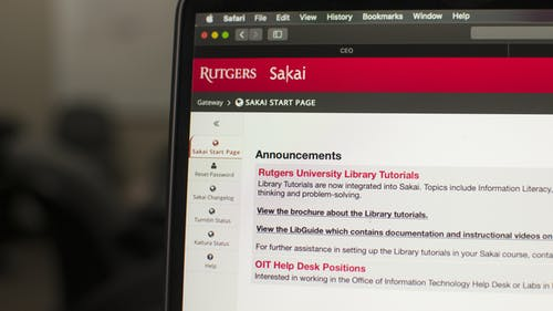 Sakai, a learning management system used at the University, will be replaced by Canvas.