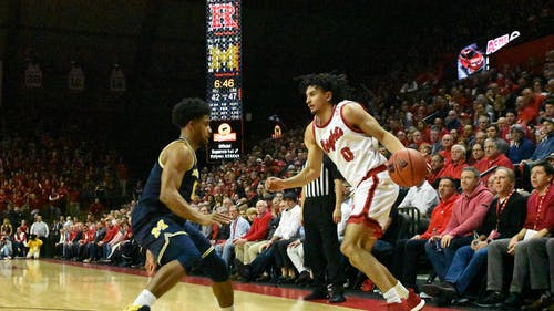 Senior guard Geo Baker scored 12 points in the win against Northwestern last Sunday.  – Photo by The Daily Targum