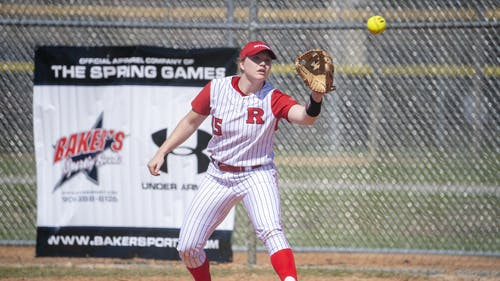 Graduate student utility player Gabrielle Callaway notched three home runs in Rutgers' four-game series against Nebraska.  – Photo by Scarletknights.com