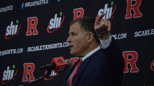 Head football coach Greg Schiano has gotten to work after being signed to a multiyear deal with the Scarlet Knights. – Photo by Benjamin Chelnitsky