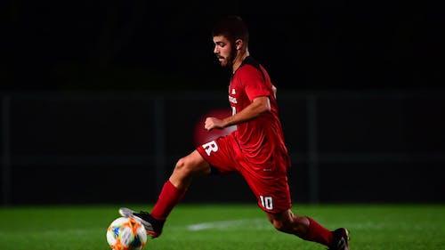 Senior midfielder Pablo Avila kicked off the scoring as the Rutgers men's soccer team defeated Lehigh 3-2.  – Photo by Scarletknights.com