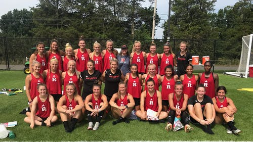 The Rutgers women's soccer team remains undefeated for the 2021 season after two wins this weekend.  – Photo by Rutgers Women's Soccer / Twitter
