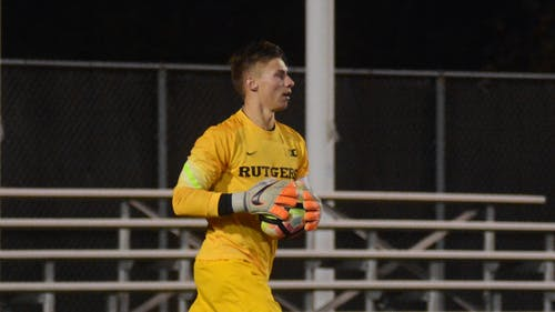 Rutgers goalkeeper David Greczek was taken 58th overall by Sporting Kansas City in the 2017 Major League Soccer Superdraft Tuesday afternoon. – Photo by Photo by Jeffrey Gomez | The Daily Targum