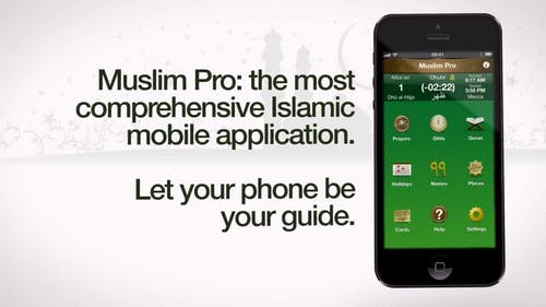 The phone application Muslim Pro (sample content above) was supposed to help Muslims pray and regiment their spiritual experience. Its alleged sale of data to the U.S. military is a betrayal, and reveals the darker side of capitalist tech. – Photo by Muslim Pro / Youtube