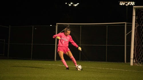Junior goalkeeper Meagan McClelland recorded her fourth shutout of the season as the Rutgers women's soccer team defeated Drexel 4-0.  – Photo by Olivia Thiel